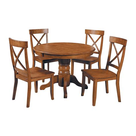 shop home styles cottage oak dining set with dining
