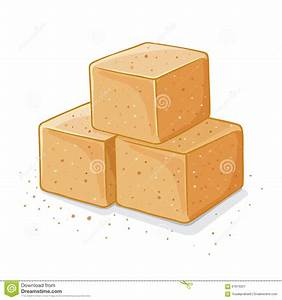 Three Brown Sugar Cubes Illustration Stock Vector - Image ...