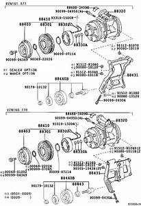Toyota Tacoma A  C Compressor Clutch Pulley  Rotor  Magnet