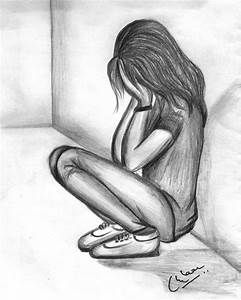 Alone Girl Sketches Sketch Of An Alone And Sad Girl ...