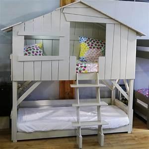 Lit Cabane Pour Enfant : lit double pour enfant maison design ~ Teatrodelosmanantiales.com Idées de Décoration