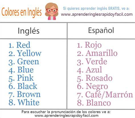 Best 25+ Colores En Ingles Ideas On Pinterest Colors