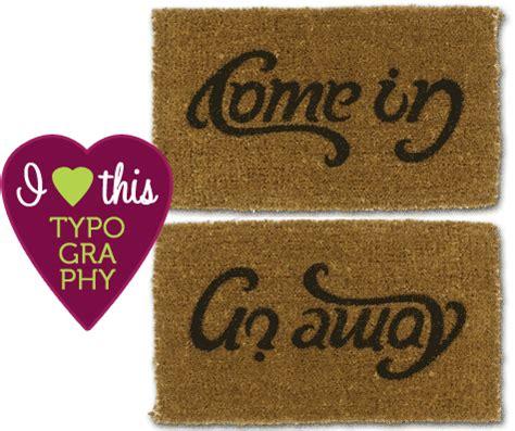 say hello then bye bye come in go away doormat