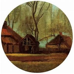 vincent van gogh les fermes parmi les arbres artinpl blog With wonderful maison toit de chaume 9 le vie des paysans