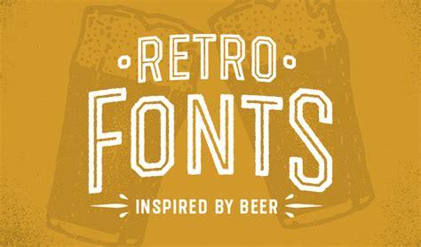beer bottleneck label powerpoint template 20 beer fonts for breweries labels retro designs