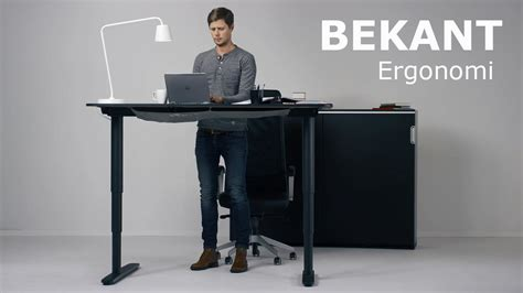 ikea sit and stand desk the new ikea bekant sit stand desk can be adjusted with