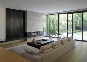 Diseno de casa moderna de dos pisos fachada e interiores for Disenos de interiores de casas modernas