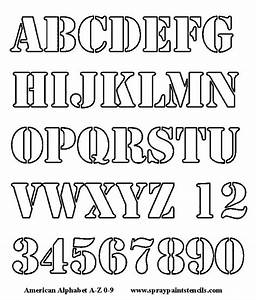 alphabet letters to cut out alphabet stencil free With letter number stencils