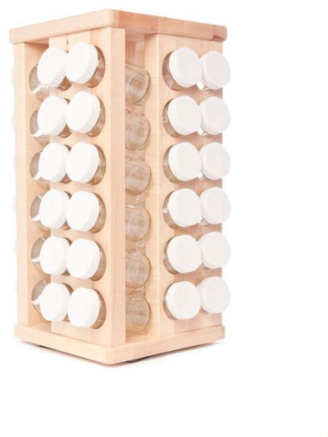 48 Bottle Spice Rack by Carousel Spice Rack 48 Bottles Contemporary Food