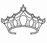 Crown Coloring Princess Pages Tiara Drawing Crowns Royal Printable Prince Template Netart Tiaras Sheets Pretty Sketch Drawings Getdrawings Adult Popular sketch template