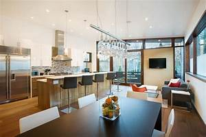 brilliant 60 modern open kitchen living room designs With kitchen and living room design ideas