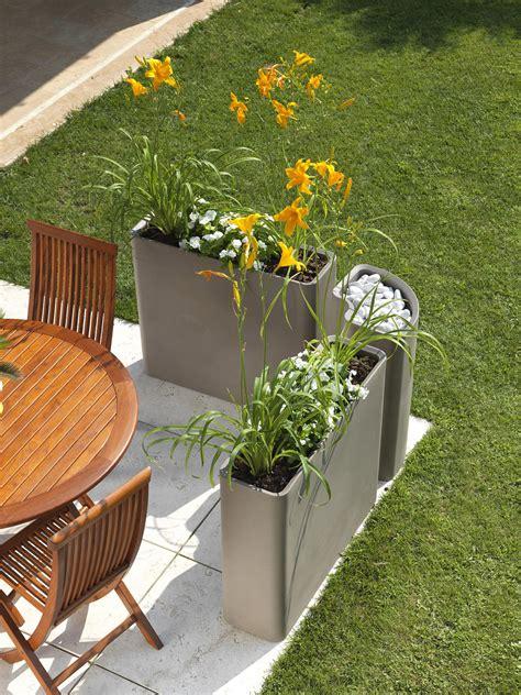 vaso arredo moderno vaso da esterno bianco in plastica 100 riciclabile h 77