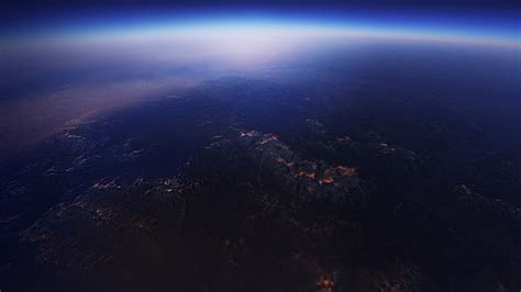 Galaxy 4k Wallpaper Android Horizon Planet
