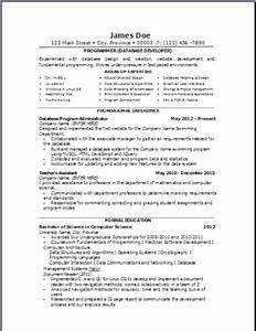 Bookmark Template Download Computer Database Resume Occupational Examples Samples