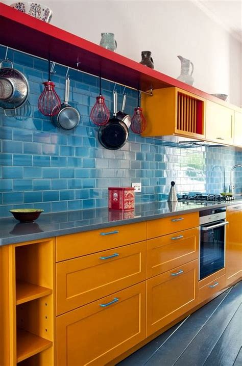 cheerful orange kitchen decor ideas digsdigs