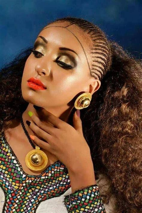 habesha beauty natural hair style braids pinterest