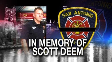 tributes honor fallen firefighter scott deem woai
