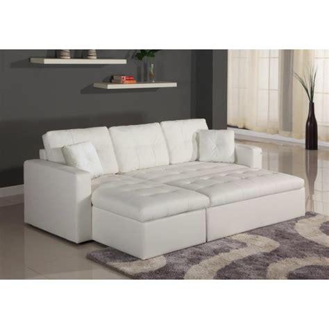 canapé convertible blanc simili cuir canapé d 39 angle lit convertible girly blanc en simili cuir