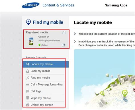 Samsung My Mobile by Use Samsung Find My Mobile App To Track Lost Galaxy
