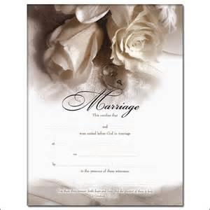Marriage Certificate Rose Romance