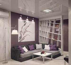 Wandfarbe Flieder Pastell : graues ecksofa lila wandfarbe und wei er raumteiler farben pinterest lila wandfarbe ~ Markanthonyermac.com Haus und Dekorationen