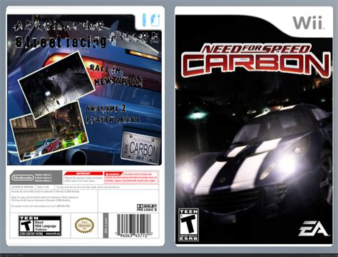 need for speed wii need for speed carbon wii box cover by milkyoreo27
