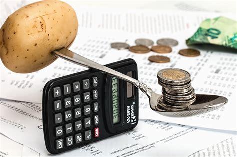 Free picture: potato, spoon, money, calculator, paper ...