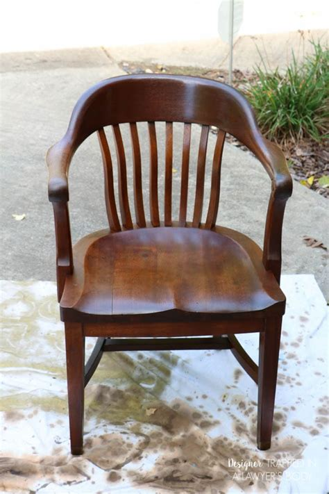 refinish wood chairs  easy