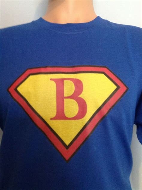 personalised superman name letter of alphabet t shirt for a birthday ebay