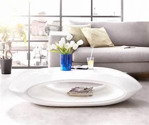 Couchtisch Hochglanz Weiß Rund : wohnzimmertisch rock hochglanz weiss 140x60 cm mit ablage couchtisch ~ Frokenaadalensverden.com Haus und Dekorationen