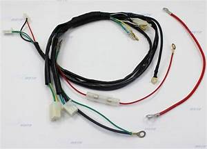 Pit Dirt Bike Wiring Loom Harness For Electric Start 50cc