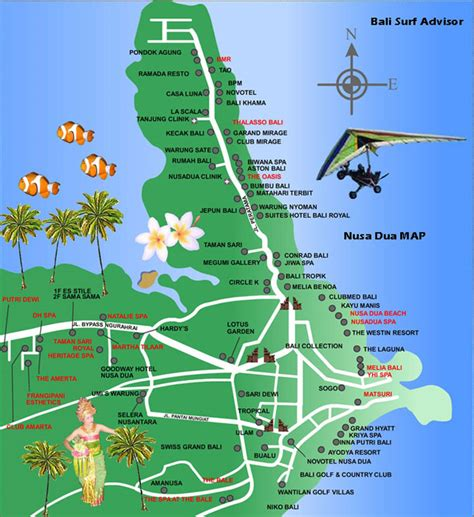 Detail Nusa Dua Map For Holidays Lover