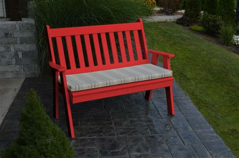 poly furniture wood  traditional english garden bench