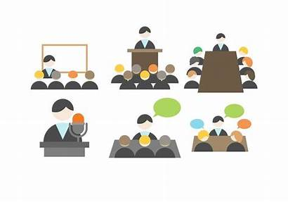 Meeting Business Vector Company Presentation Meetings Graphics