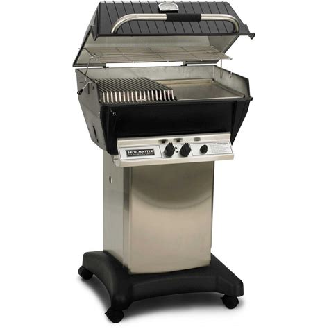 gas grills broilmaster p3 sx super premium propane gas grill on stainless steel cart bbq guys