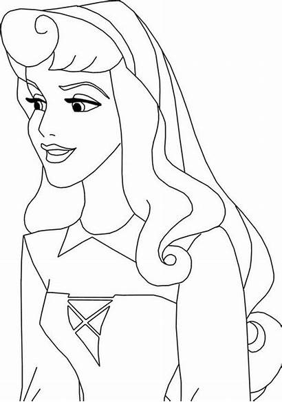 Aurora Princess Coloring Pages Disney Smile Colouring