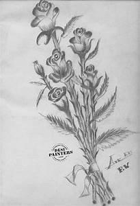 Beautiful Pencil Drawings Of Flowers - Drawing Pencil