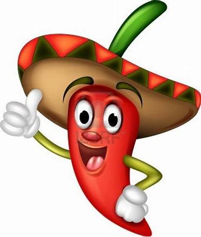 Chili Cartoon Pepper 123rf Mexican Vector Peppers
