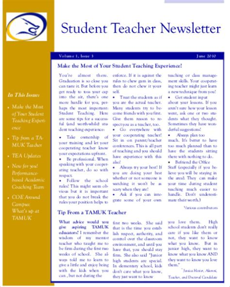 Student Newsletter Templates Free by Free Cover Letter Templates 187 Student Newsletter Templates