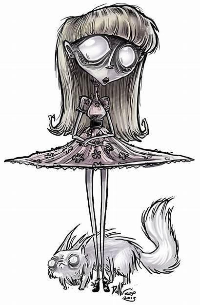 Burton Weird Tim Drawings Frankenweenie Deviantart Cat