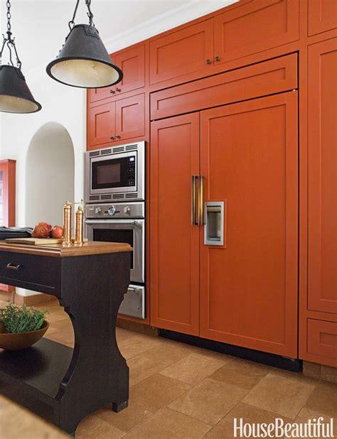 waschküche möbel schränke burnt orange k 252 che dekor rot design ideen f 252 r die