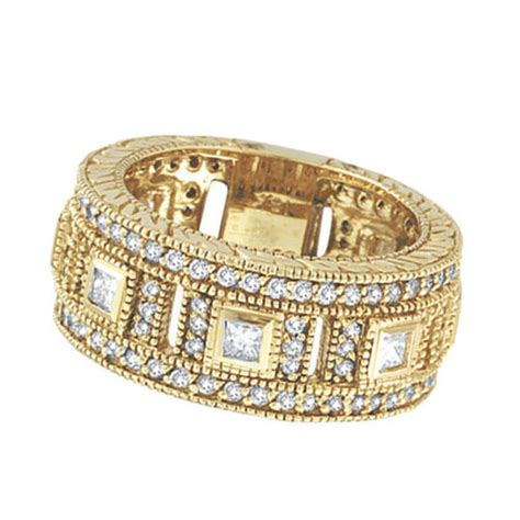 yellow gold ct diamond eternity ring band