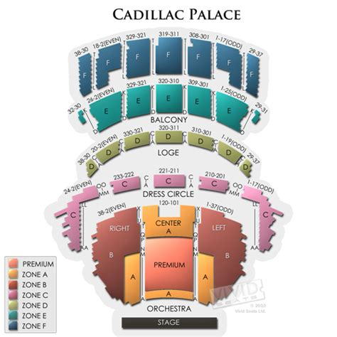 cadillac palace theatre master theater seating charts cadillac palace tickets cadillac palace information