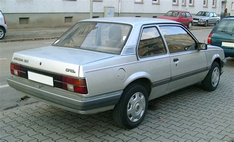 Opel Ascona by File Opel Ascona Rear 20071115 Jpg