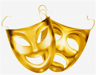 Masks Theater Clipart Gold Transparent Mask Pngkey