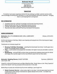 awesome sample bartender resume to use as template With free bartender resume templates