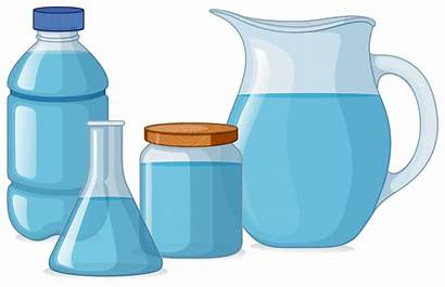 Containers Different Water Types Clipart Vector Fresh