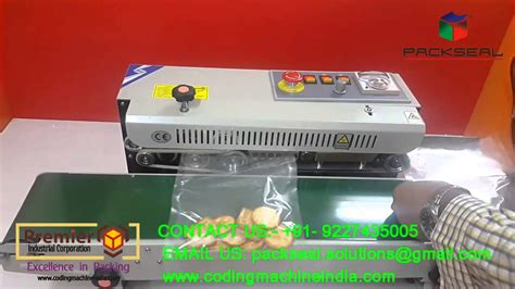continous band sealer pouch sealing machine bag sealing machine pouch packing machine youtube