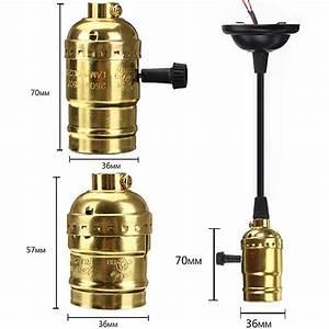 E edison retro screw bulb socket lamp holder pendant