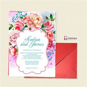 219 best wedding invitation templates free images on With edit photo wedding invitations